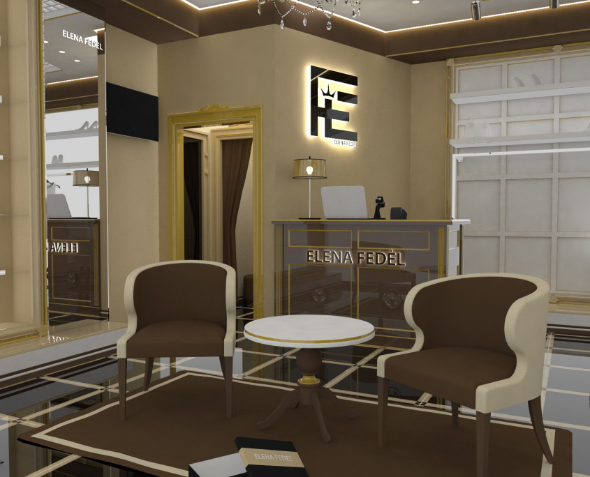 Интерьер магазина ELENA FEDEL